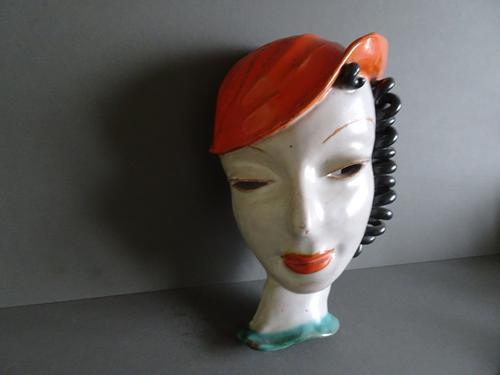 Goldscheider, Austria, Art Deco Wall Mask (1 of 10)