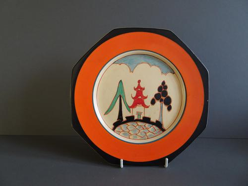 Clarice Cliff Kew Pattern Plate (1 of 1)