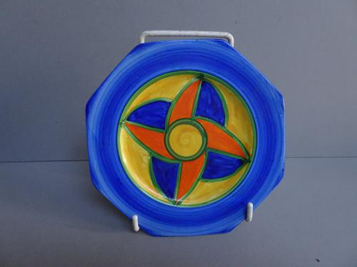 Clarice Cliff Original Bizarre Plate, Very Early Example, 1928 (1 of 9)