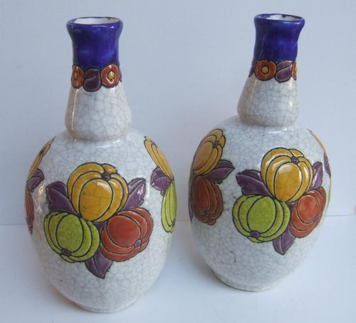 Good Pair of 1920's Art Deco Boch Freres Vases by Charles Catteau. (1 of 1)