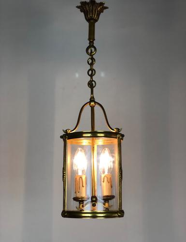 French Gilt Bronze Twin Light Hall Lantern (1 of 7)
