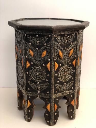Vintage Moorish Inlaid Side Table (1 of 11)
