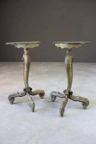 Pair of Continental Painted Side Tables (1 of 12)