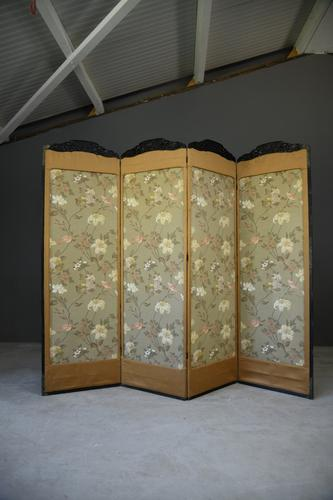 Oriental Four Panel Screen Room Divider (1 of 12)