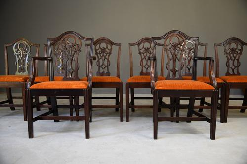 Set 8 Chippendale Style Dining Chairs (1 of 11)