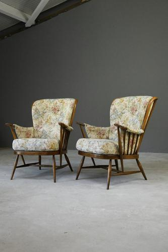 Pair of Vintage Retro Ercol Armchairs Chairs (1 of 12)