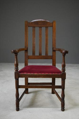 Early 20th Century Oak Carver Chair (1 of 10)