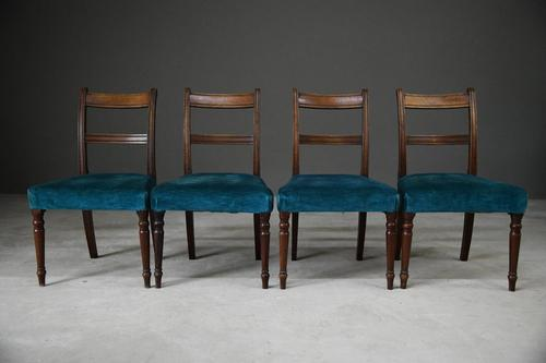 Set of 4 Antique Mahogany Dining Chairs (1 of 13)