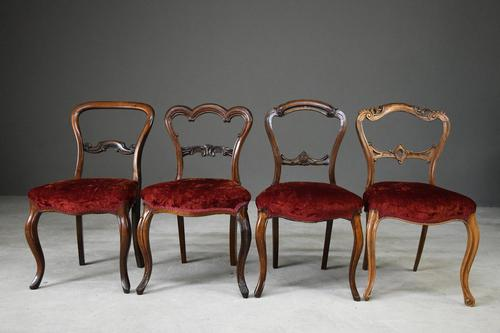 4 Victorian Mahogany & Rosewood Dining Chairs (1 of 12)