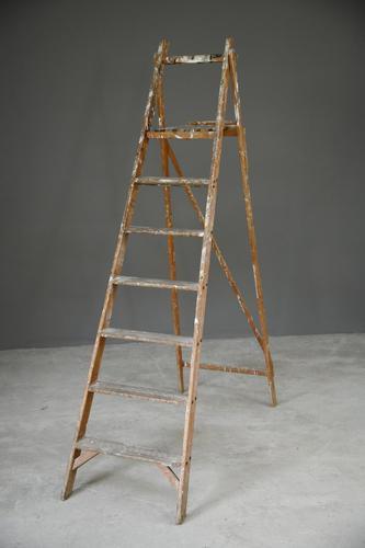 Vintage Folding Wooden Ladder (1 of 9)