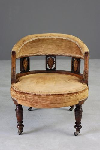 Victorian Inlaid Rosewood Tub Chair (1 of 1)