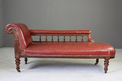 Antique Leather Chaise Longue C.1870 (1 of 1)