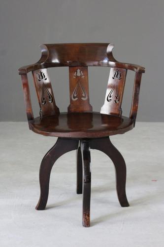 Edwardian Swivel Desk Chair (1 of 1)
