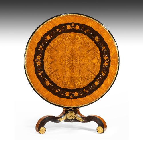 Exceptional 19th Century Marquetry Centre Table attributed to Edward Holmes Baldock (1 of 16)