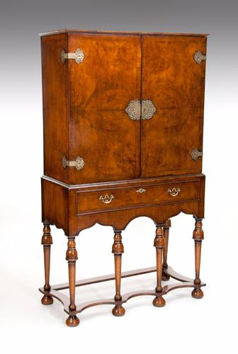 Good Quality Antique Walnut Cocktail Cabinet c.1900 (1 of 1)