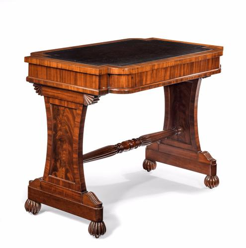 Antique 19th Century Mahogany Stretcher Table (1 of 1)