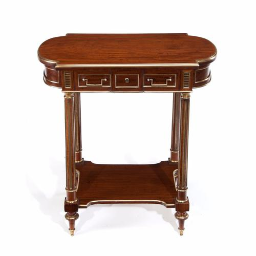Fine French Mahogany & Brass Occasional – Dressing Table (Table a Ouvrage) (1 of 1)