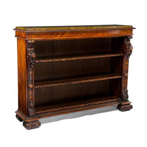 Superb Quality 19th Century Walnut Open Bookcase / Bookshelves (1 of 1)
