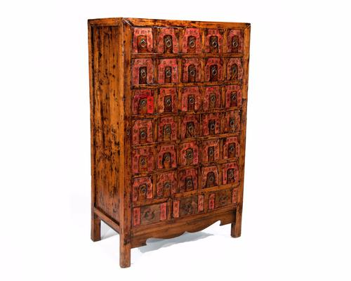 Early 20th Century Chinese Apothecary Cabinet (1 of 1)
