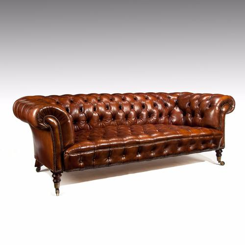 Fine Antique 19th Century Leather Upholstered Chesterfield (1 of 1)