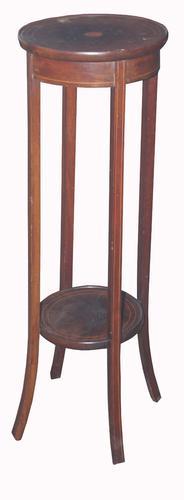 Edwardian Mahogany & Inlaid Pot Stand (1 of 3)