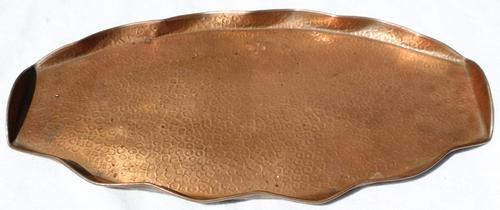 Art Deco Copper Tray Signed with Initials (1 of 4)