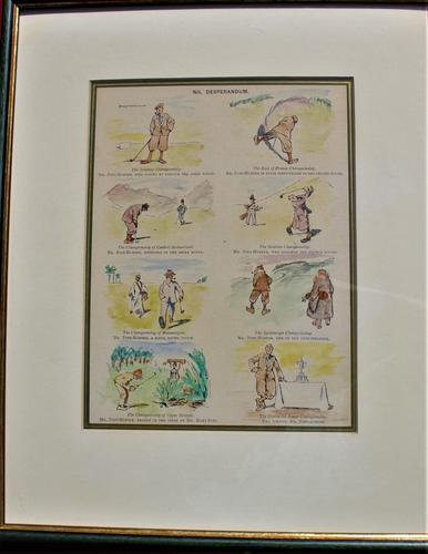 Coloured Humorous Golfing Print 'Nil Desperandum' (1 of 3)