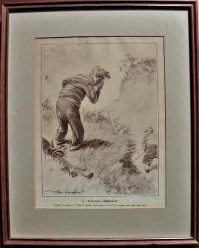 Humorous Golfing Print 'Follow Through' (1 of 2)