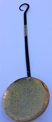 Victorian Brass Skimming Spoon (1 of 4)