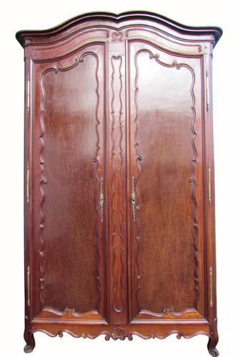 Lovely Quality Large French Early 19th Century Mahogany Armoire (1 of 7)