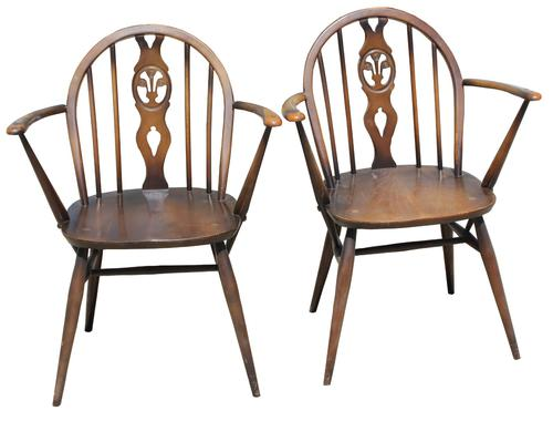 Pair of Ercol Armchairs (1 of 5)
