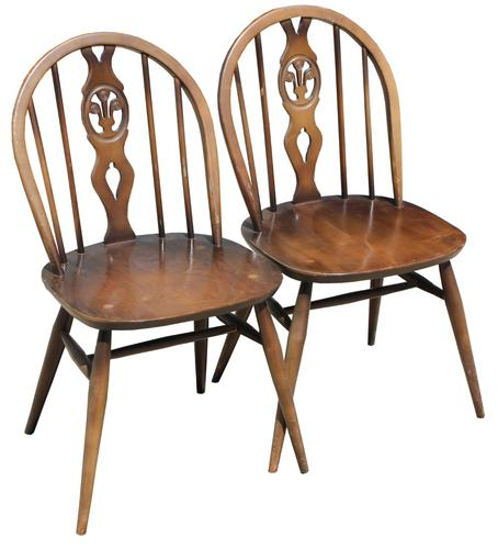Pair of Ercol Side Chairs (1 of 6)