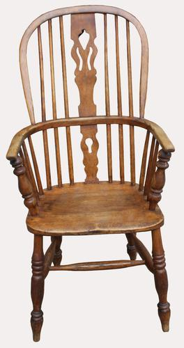 A Lovely Quality Victorian Elm Kitchen Armchair (1 of 5)