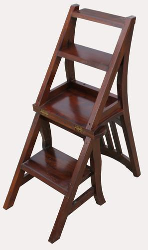 A Set of Lovely 20th Century Mahogany Chair / Library Steps (1 of 7)