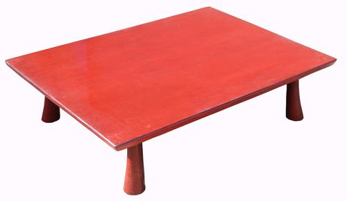 Early 20th Century Red Lacquer Tea Table (1 of 1)