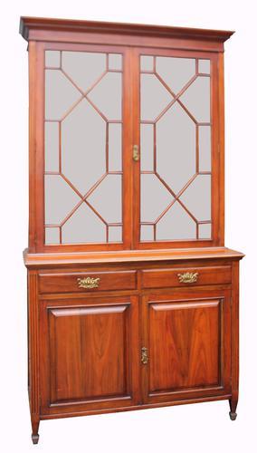 Victorian Walnut Two Door Bookcase (1 of 1)