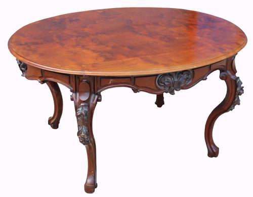Victorian Oval Mahogany Centre Table (1 of 1)