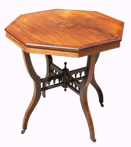 Victorian Octagonal Rosewood Table (1 of 5)