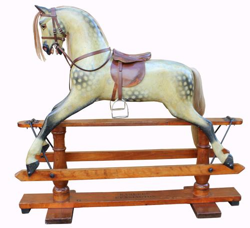 Superb Victorian Rocking Horse by Barkers of Kensington (1 of 1)