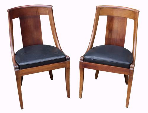 Pair of Early 20th Century Mahogany Regency Style Side Chairs (1 of 1)