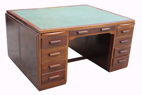 An Oak Partners Desk c.1940 (1 of 1)