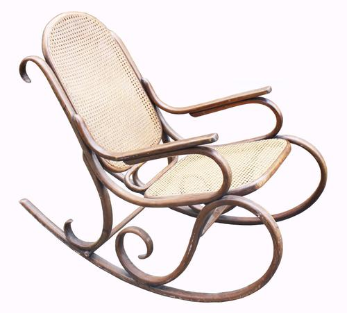 Good Quality Bentwood Cane Rocking Chair c.1920 (1 of 1)
