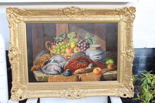 Pair of Still Lifes by Charles Thomas Bale (1 of 1)