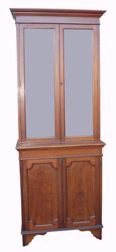 Slim Victorian Mahogany Bookcase c.1890 (1 of 1)