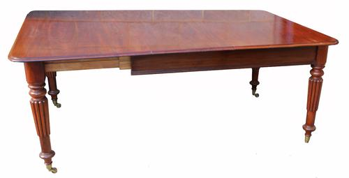 Victorian Mahogany Two Leaf Extending Dining Table (1 of 1)