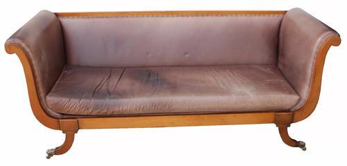 Mahogany Regency Style Sofa C.1960 (1 of 1)