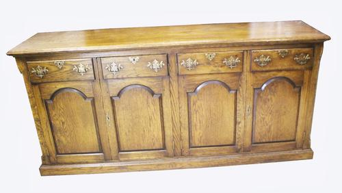 Good Quality Distressed Oak Dresser Base (1 of 1)