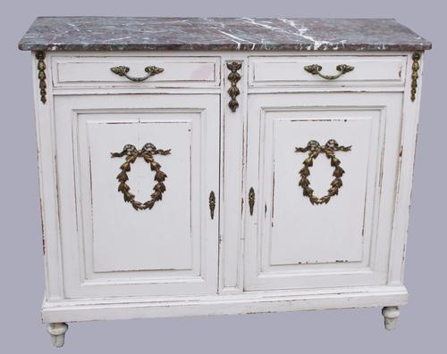 19th Century Painted Oak French Sideboard (1 of 1)