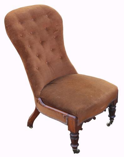 Lovely William IV Rosewood Framed Easy Chair (1 of 1)