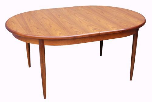 Teak 'G' Plan Extending Oval Dining Table (1 of 1)